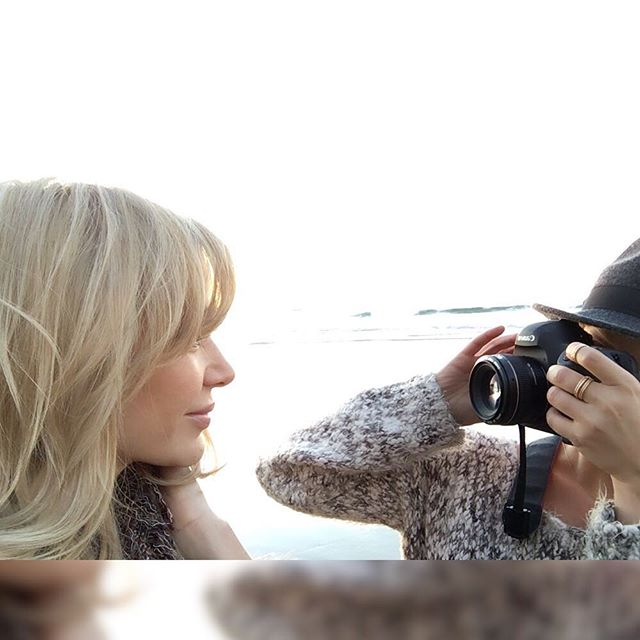 """""""Only those who will risk going too far can possibly find out how far one can go."""" – T.S. Elliot #bts #actresslife #bts #malibu #photoshoot #anivalblonde #beachblonde #goldenhour #magichour #vioslense @violetartistry @anivalm"""