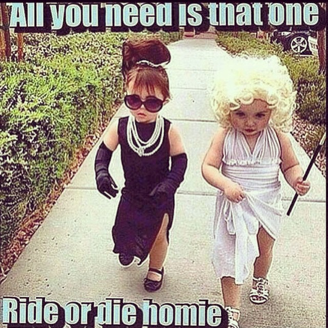 @flaviacolgan this is us, and you are most definitely the blonde one! #LaCastro #LaColgan #rideordiehomie