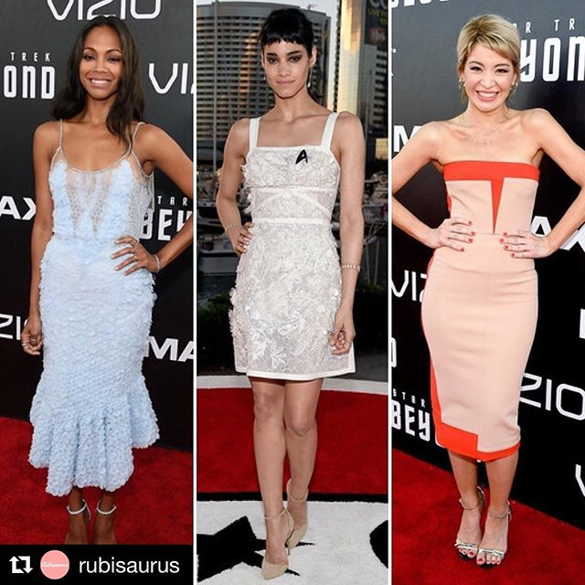 @rubisaurus you so much for the love! @anivalm @fabiolamakeup @martinputter @lizrodriguezemr #Repost @rubisaurus ??? Zoe Saldana, Sofia Boutella & Katherine Castro looked ah-mazing at the Star Trek Beyond premiere #Repost @rubisaurus ??? #actress #redcarpet #redcarpetfashion #redcarpetstyle #startrekbeyond