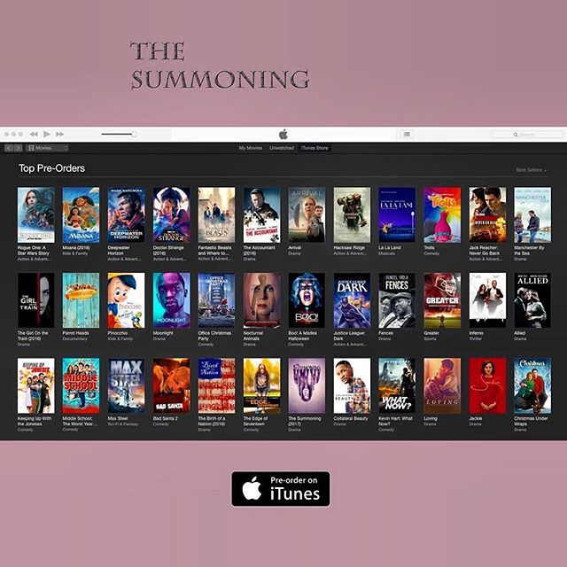 @thesummoningmovie is gaining momentum. Keep it coming. Thanks you everyone for your support! Pre order on @itunes now! #actress #indie #indiefilm #thriller #Repost @albertogrodriguez ??? Well alrighty then! Thanks to all who got this giant wave going. It's growing... right next to Will Smith and #batman ? pre-order hall of fame. #gravitasventures #thesummoning #indiefilm #itunes #emrmedia @thesummoningmovie