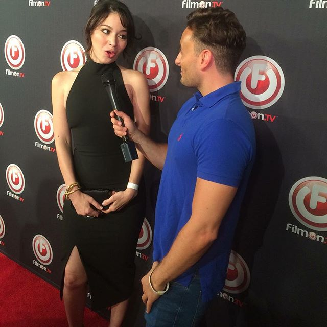 Another fun #redcarpetinterview, this one for #BritishTV on the #bobthunderinternetassassin movie premiere last week at the #Egyptian #LA #Actress #Producer #AmericanViolenceMovie @lizrodriguezemr @bobthundermovie