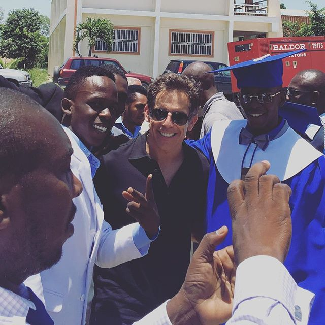 Ben Stiller was the sweetest. Taking pics with all of the graduating students of #academyforpeaceandjustice. They were so excited and so grateful to have him there. Thank you @zoolander for your constant and unwavering support to @artistsforpeace! #actress #dominican #caribbean #artistsworkingtogether #givingback #apjgraduation #quintessence2016 #Haiti #iwillbeback