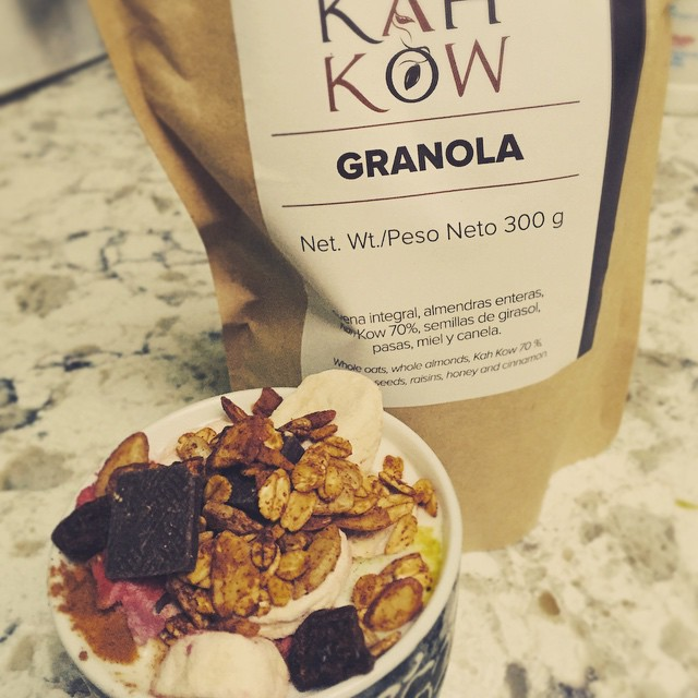 Breakfast at my new home #homemade Yogurt Parfait made perfect w my #raw #organic #nongmo Dominican #KahKow granola. Thank you @lauraluciano_ for this gift! #delish #perfection @hjrizek @samirrizek