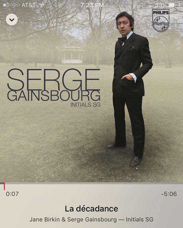 Gainsbourg kind of mood... #sergegainsbourgforever