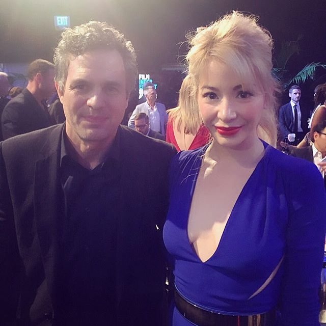Great running into you, first on the flight back from #NYC to #LAX and now at the #SpiritAwards @markruffalo and congratulations on all the well deserved @spotlightmovie awards! I look forward to another opportunity to chat more with you about your cause #waterdefense and bringing it over to #DR to raise awareness and get people involved locally @filmindependent @lizrodriguezemr @artsyrosemary @varietylatino @iris_dominicana