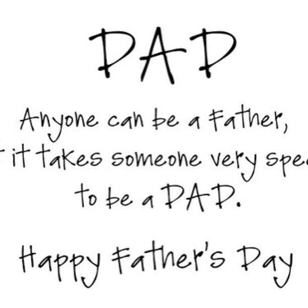 Happy Father's Day to all dad's around the world!