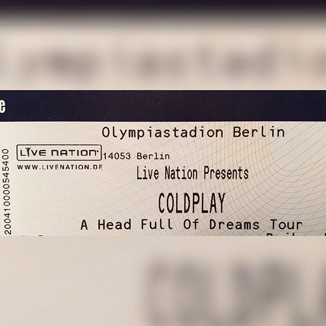 Head in the clouds for this one. Berlin, here I come! #Berlin #ChrisMartin #Coldplay #headfullofdreamstour2016 #olympiastadion #livenation #lifeisanadventure #wunderbar @coldplay @livenation