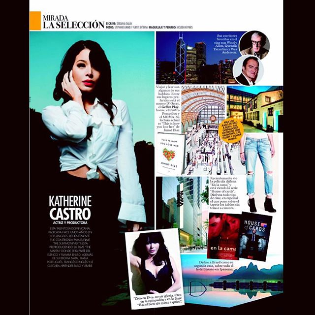 Here's the full page of the highlight the #DR #RevistaALaModa did on me on some of my favorite thing same places around the world on this month's issue! #actress #producer #fashion #travel #culture #aroundtheworld @lizrodriguezemr @deigalan @stephgirardphoto @violetartistry @revistalamoda @thesummoningmovie