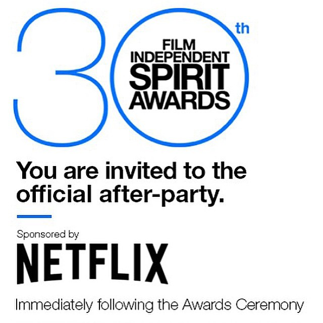 Honored to be invited and looking forward to celebrating the #Spirit of #independentFilm in a room filled w/fellow #dreamers at #filmindependent #spiritawards and #Afterparty @filmindependent @lizrodriguezemr @deigalan @romeroangie