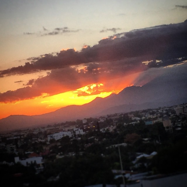 Rays of Gold from the eye in the sky... #SunsetinDR