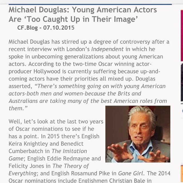 Really? (In my #SNL #sethmeyers #weekenduodate voice) Says the man who's famous not only for is his movie roles and awards but for his multiple plastic surgeries and other facial beauty/youth enhancement procedures Really #MichaelDouglas? Really? #doasIsaynotasIdo @nbcsnl @sethmeyers @latenightseth @hair_omri