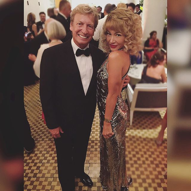 So he thinks I can dance and he's right!Lovely seeing you again @dizzyfeet1927 at last night's British Academy Film Awards! #actress #bafta #britannias #awardsnight #LA #nightout @bafta @baftala @anivalm @lizrodriguezemr