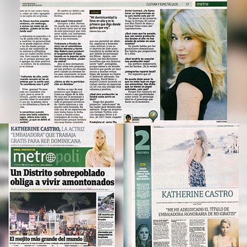 Thank you @carmelsyc from @metrord.do for the intervjew. Always a chatting with you! / Gracias #CarmelsyConfesor por la entrevista para #MetroRD. Siempre es un placer conversar contigo! #actress #producer #dominicana #interview #projects #makingmoves #makingmovies #thanksforthelove @deigalan @artsyrosemary @lizrodriguezemr @anivalm
