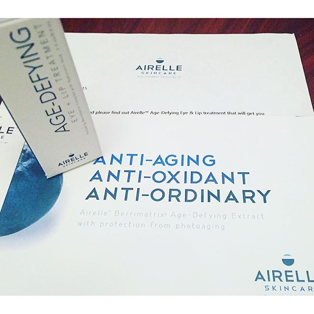 Thank you @lillyzab and @airelleskin for the wonderful surprise. I cannot wait to try this #eyeandliptreatment. I will be posting my results! #antiaging #antioxidant #antiordinary #berrimatrix #besuty #skincare #pampertime