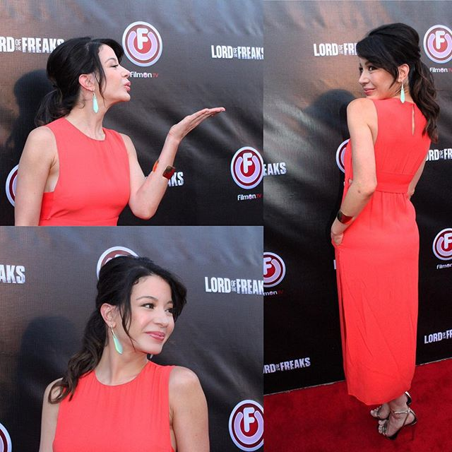 Thank you photographer #DanKennedy for these lovely pictures from @filmonTv #LordOfTheFreaksMovie #redcarpet #premiere @lizrodriguezemr @alejandroperazastyle @theresa_baca @huxleymanagement