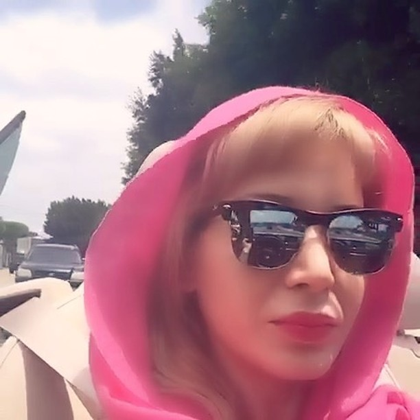 Top down and headscarf kind of day... #convertible #headscarf #pinkscarf #pinklips #pinkeverything #Sunny #roadtrip #allroadsleadto ....