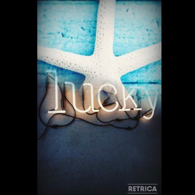 You must be my lucky star... #imakemyownluck