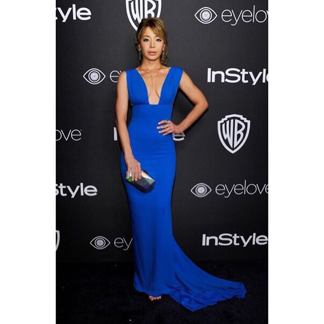 #aboutlastnight Arriving at The 2017 InStyle and Warner Bros. 73rd Annual Golden Globe Awards Post-Party at The Beverly Hilton Hotel on January 8, 2017 in Beverly Hills, California ?John Sciulli /Getty Images #actress #awards #awardseason #goldenglobes #instyle #warnerbros #hfp #LA #nightout #dress @stellamccartney #style @alejandroperazastyle #hair @nancileesantos #mua @theresa_baca #haircolor @anivalm @lizrodriguezemr