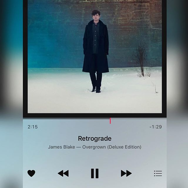 #currentmood GOD this song!!! Talking about #mercuryretrograde this song came up on my playlist and I love it as much or even more when I got it 3 years ago! #labordayweekend #retrograde #obsessed #jamesblake #hitshome