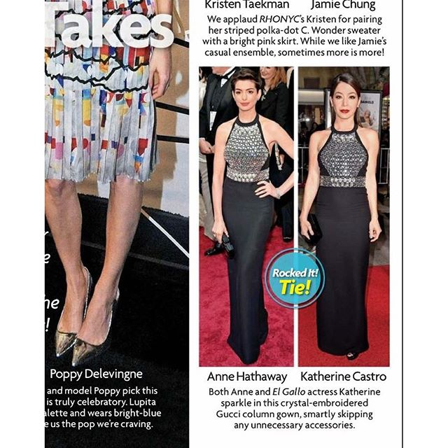 #tbt that time when #starmagazine thought that both #annehathaway and I rocked the @gucci dress on the carpet! #actress #dominican #caribbean #latina #redcarpet #tedcarpetlook #gucci #lbd #outandabout #la #lanightout #premiere #dumbanddumberto #whoworeitbetter #hair @martinputter #mua @theresa_baca
