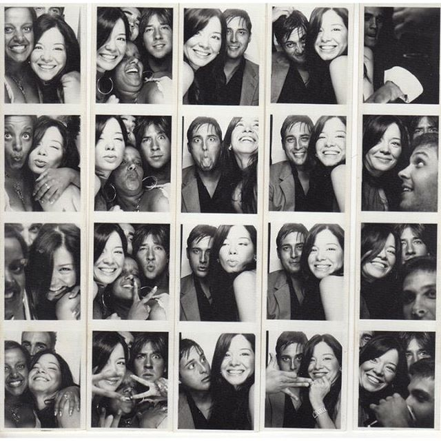 #tbt throw back, waaay back, having a great time at @brettrat home photo booth with my very first friends in #LA. I haven't seen them in so long. I hope our paths cross again soon! #AletaMorgan #TannerBeard #LewisCooksley #actors #producers #directors #dreamers #friends #thehouseoffun #photoboothfun #goodtimes #goodtimeswithgoodfriends #ratpac